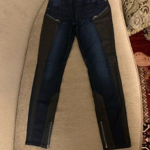 Guess Black Sparkly Moto Jeans Skinny